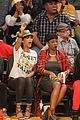 rihanna bff melissa forde hold hands at lakers game 17