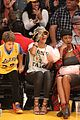 rihanna bff melissa forde hold hands at lakers game 19
