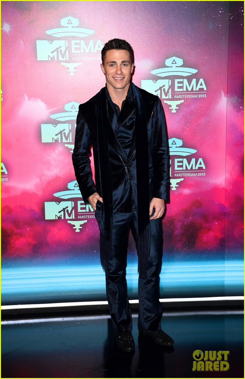 louise roe colton haynes mtv ema 2013 red carpet 032989948