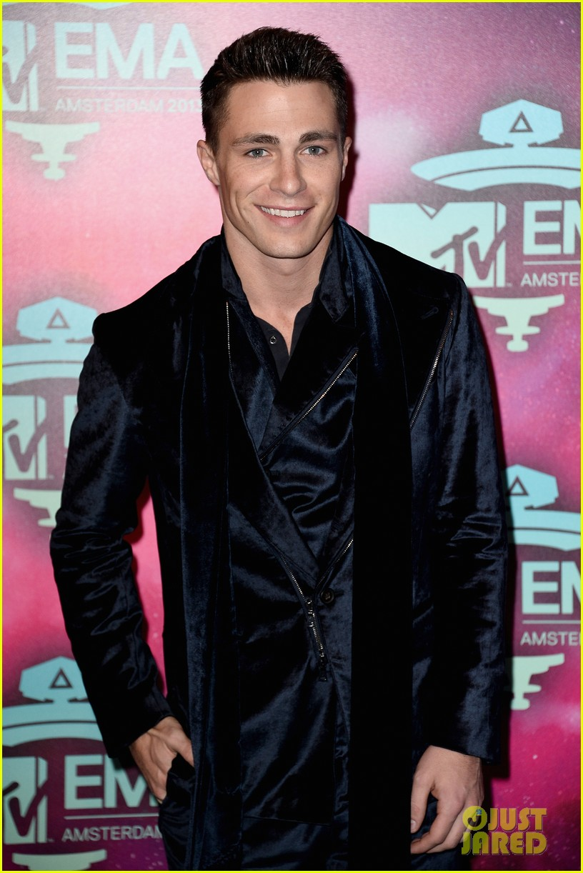 louise roe colton haynes mtv ema 2013 red carpet 112989956