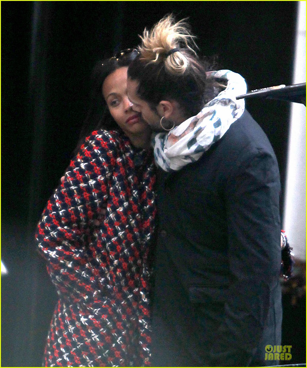 zoe saldana kisses marco perego after face tattoo flash 04