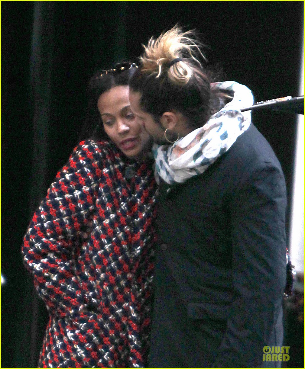 zoe saldana kisses marco perego after face tattoo flash 072988702