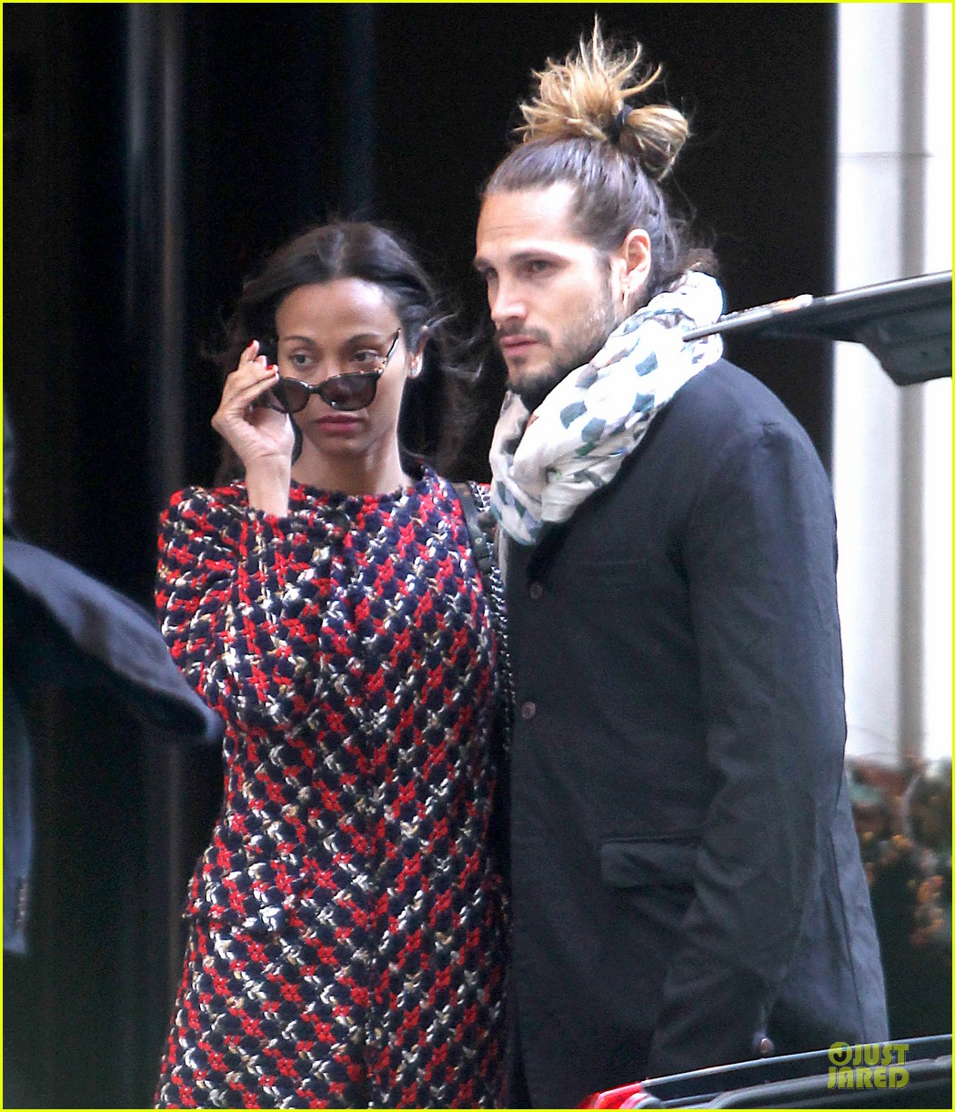 zoe saldana kisses marco perego after face tattoo flash 17