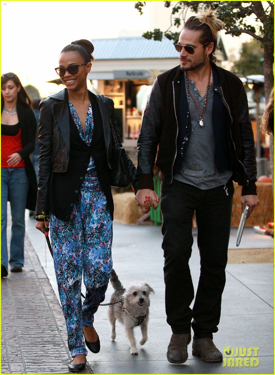 zoe saldana marco perego hold hands look so in love 01
