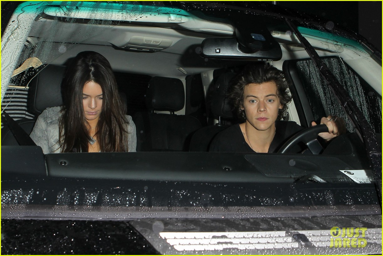 harry styles kendall jenner leave dinner together 01