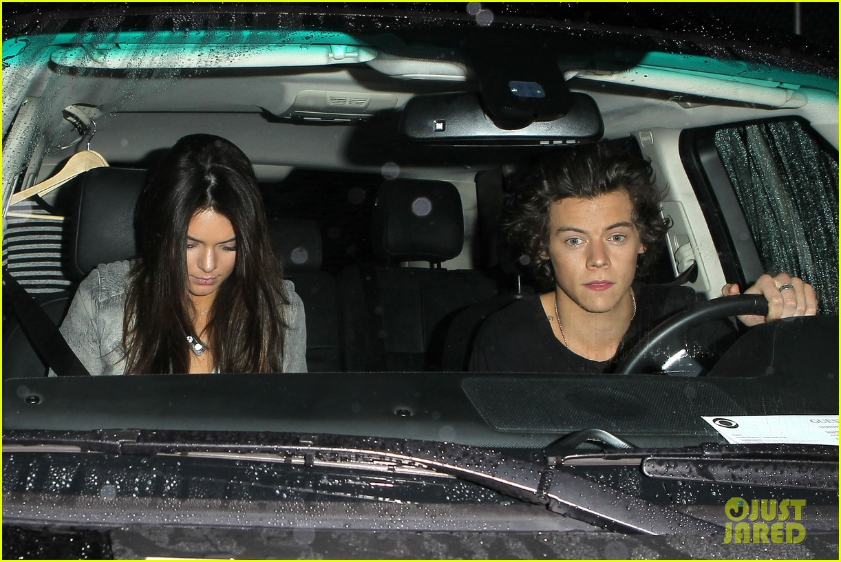 harry styles kendall jenner leave dinner together 06