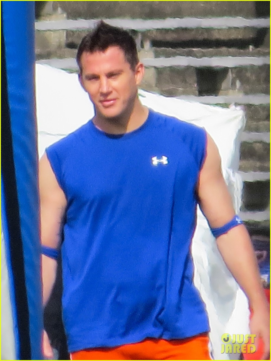 channing tatum filming 22 jump street football game 212991675