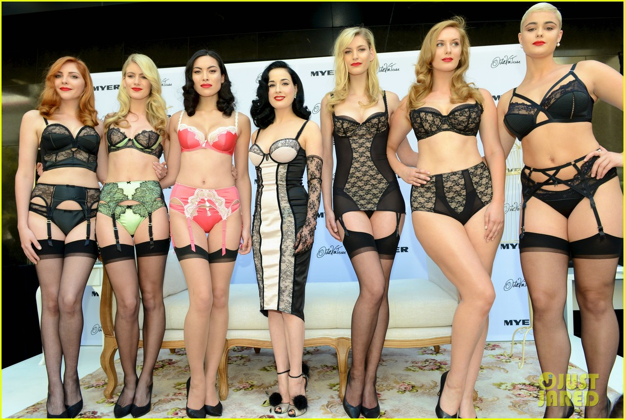 dita von teese debuts new lingerie collection in melbourne 11