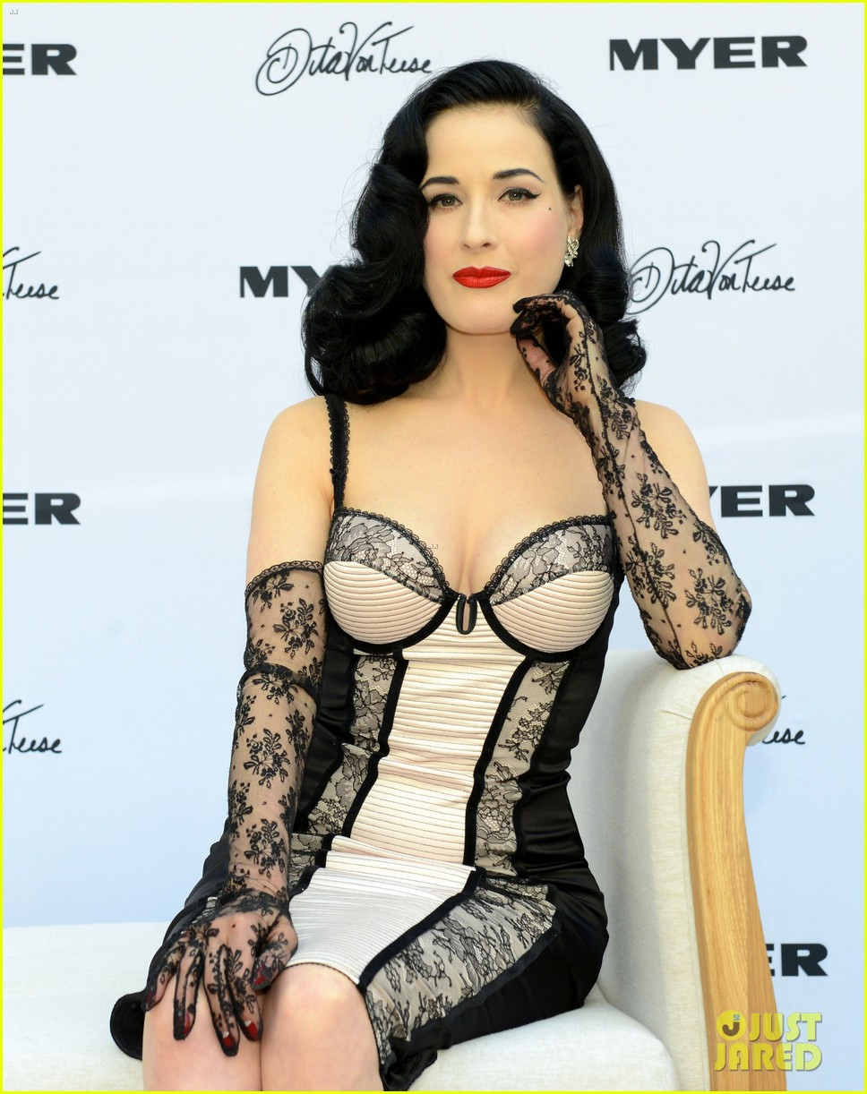 dita von teese debuts new lingerie collection in melbourne 122987535