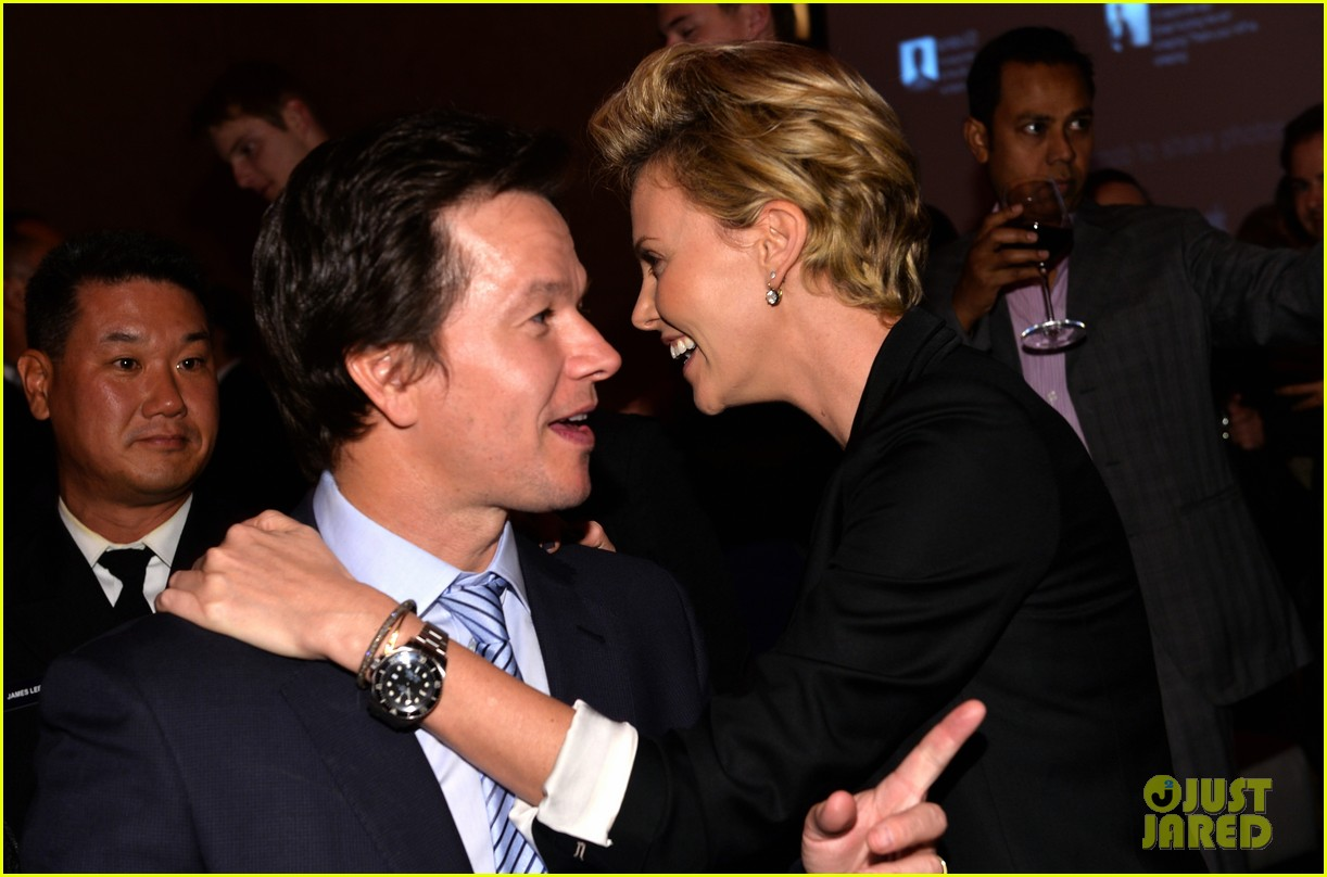 charlize theron mark wahlberg reunite at premiere after party 022991930