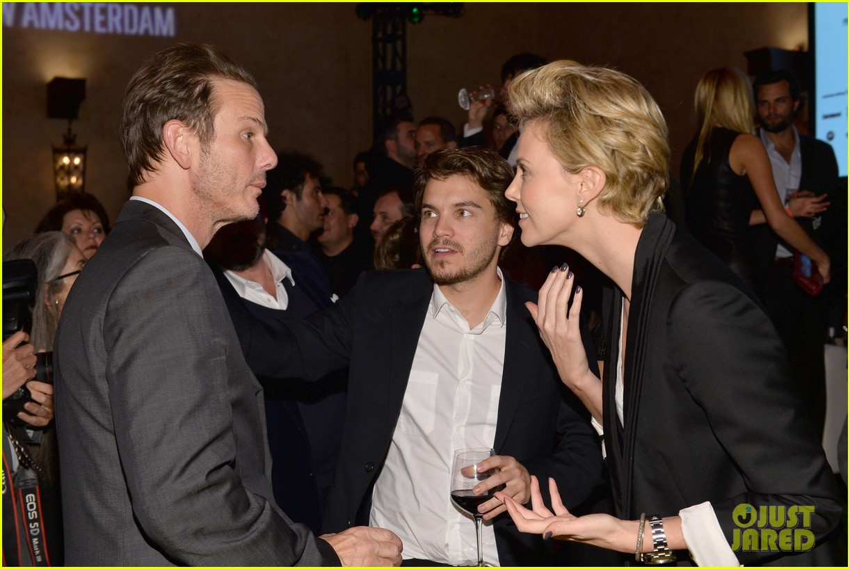 charlize theron mark wahlberg reunite at premiere after party 092991937
