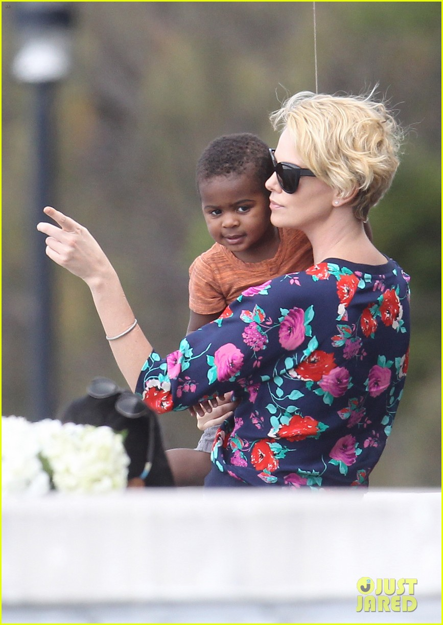 charlize theron sydney outing with her little man jackson 07