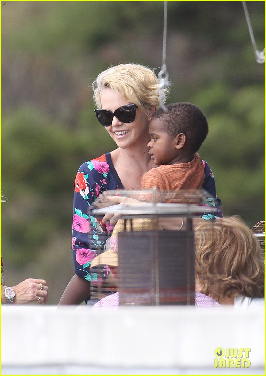 charlize theron sydney outing with her little man jackson 08