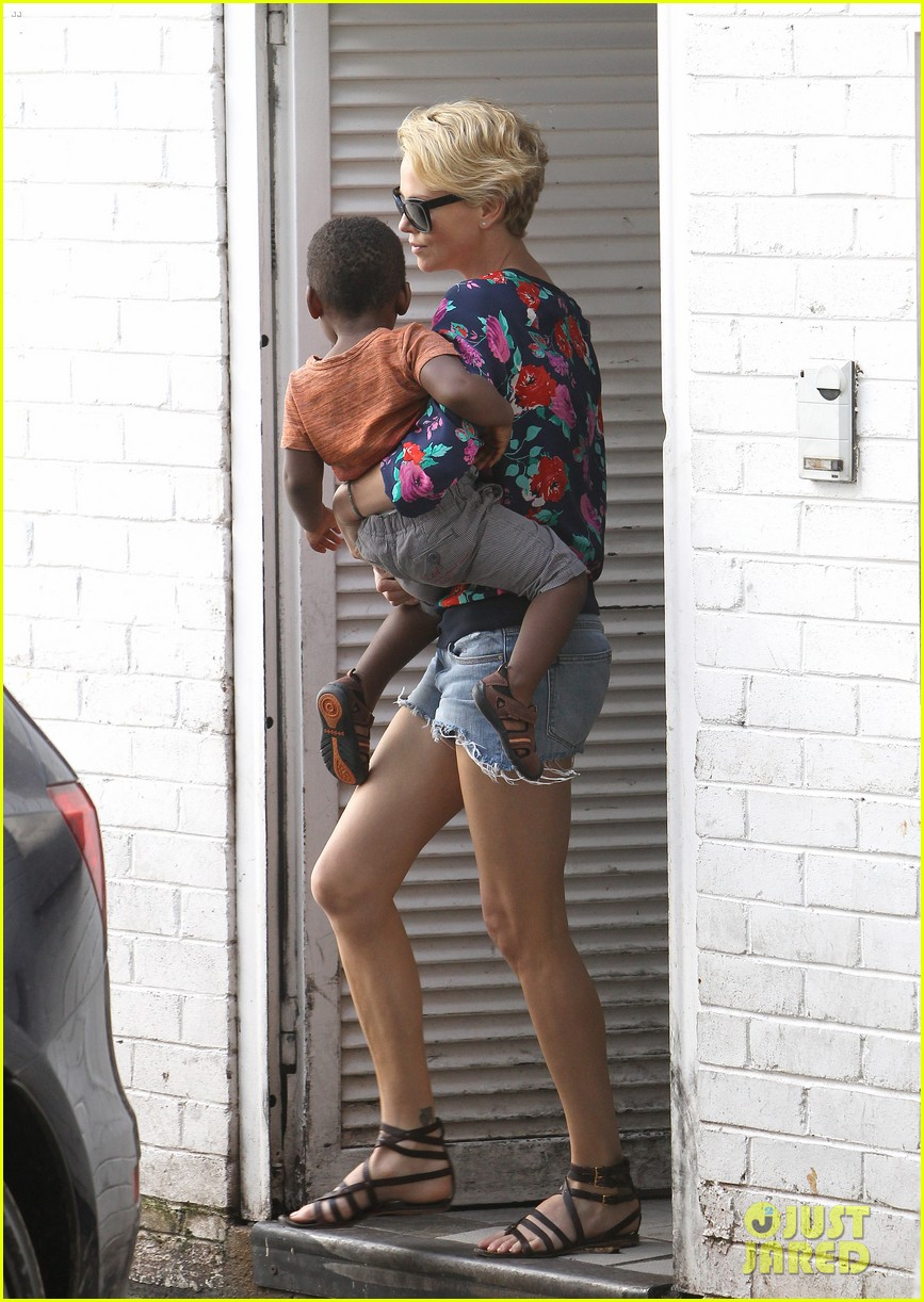 charlize theron sydney outing with her little man jackson 10