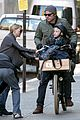 naomi watts straps in boys for bike ride with liev schreiber 10