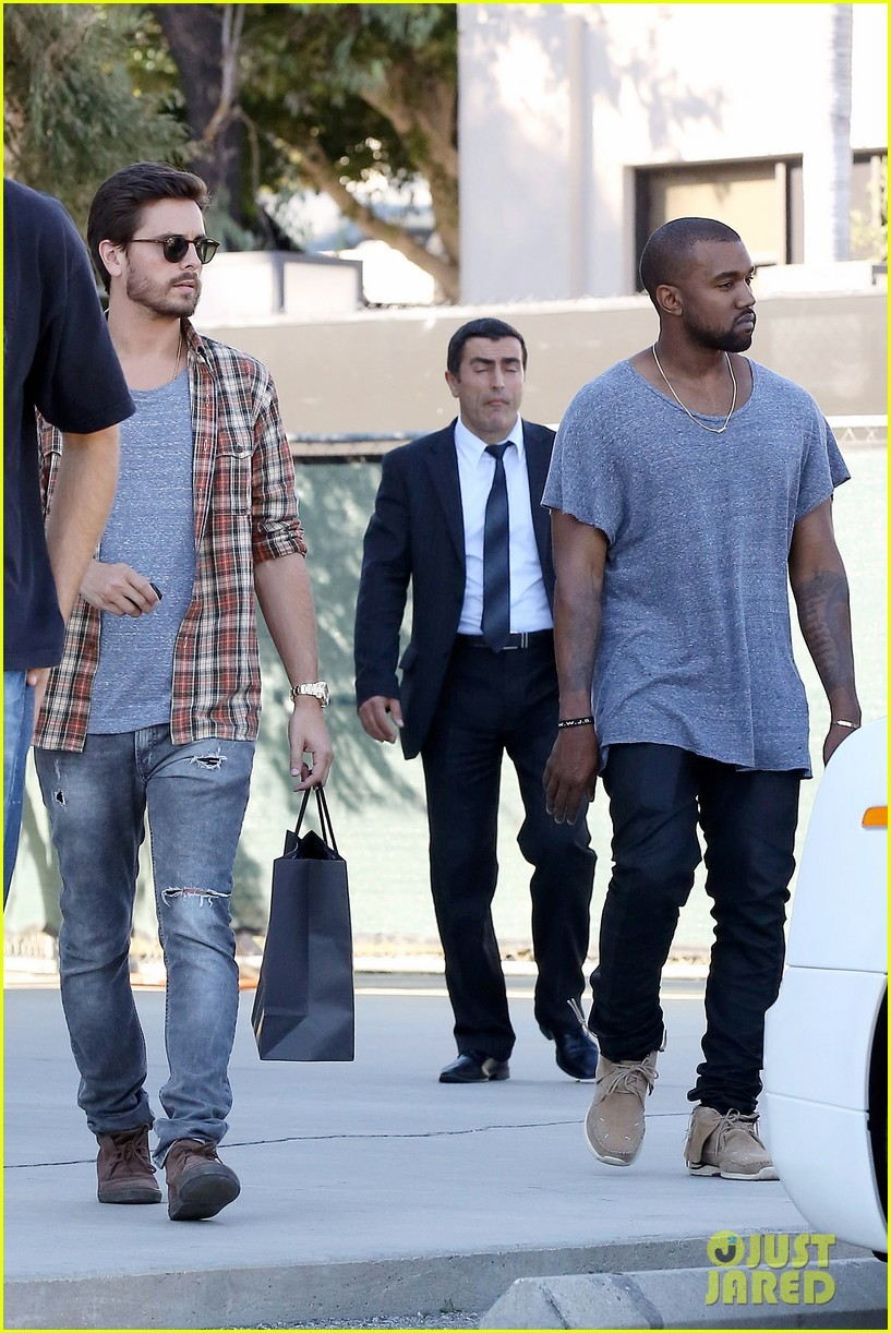 kanye west goes shopping with scott disick 01