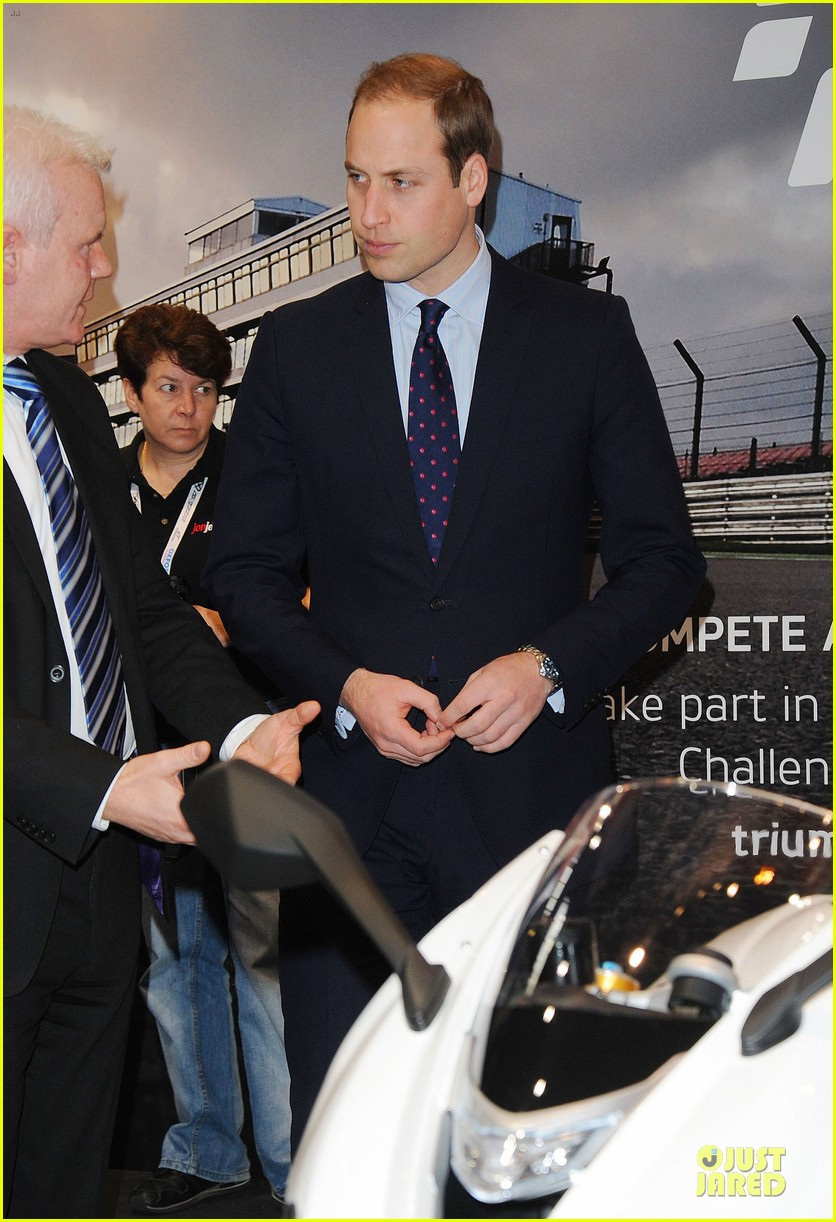 prince william receives gift at motorcycle live show 153002488