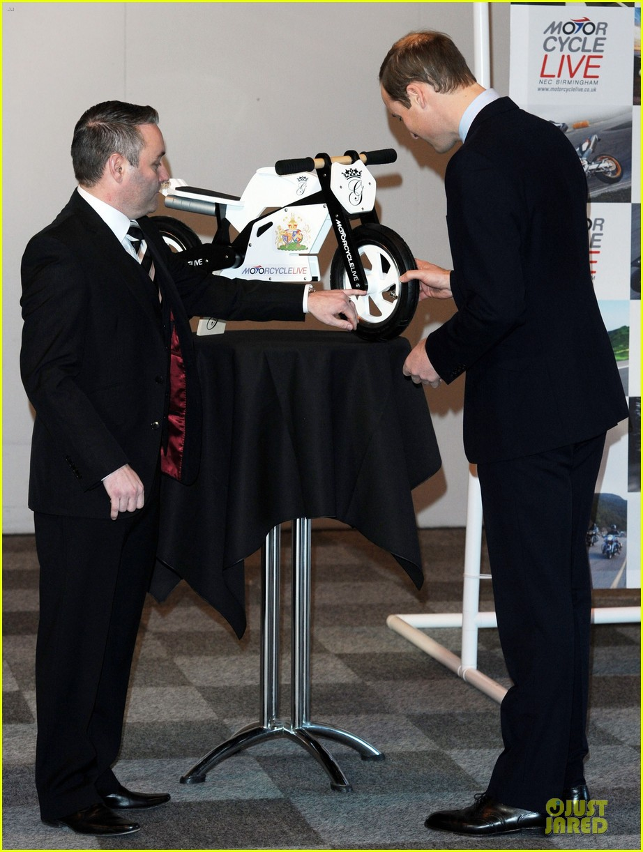 prince william receives gift at motorcycle live show 19