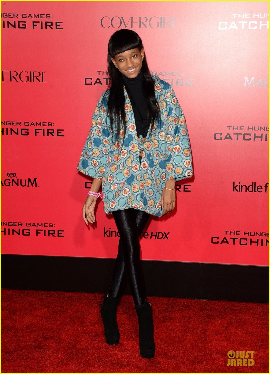 willow jaden smith catching fire la premiere 112995754