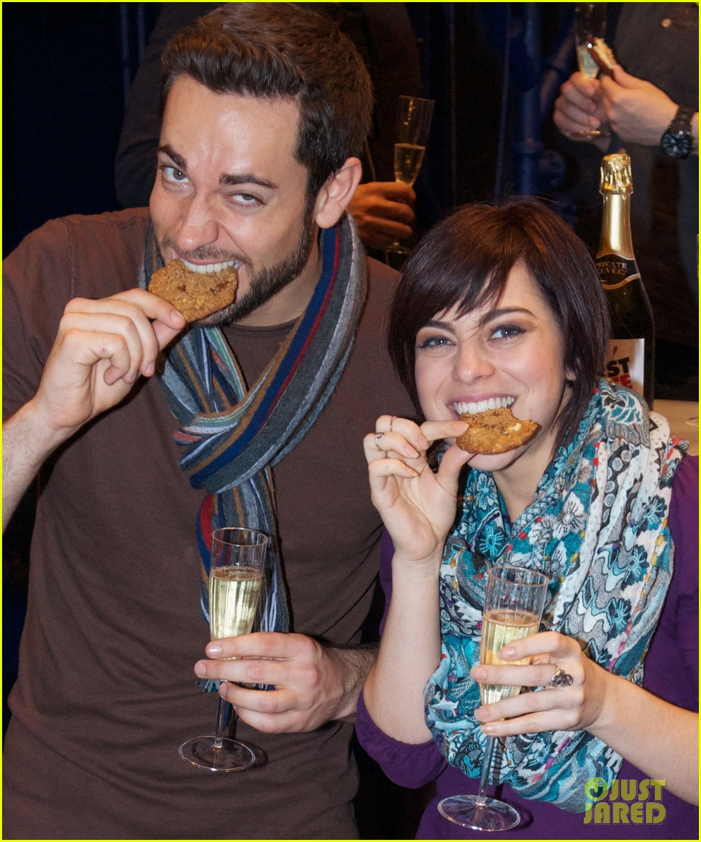 zachary levi krysta rodriguez celebrate 100 first date shows 052985550