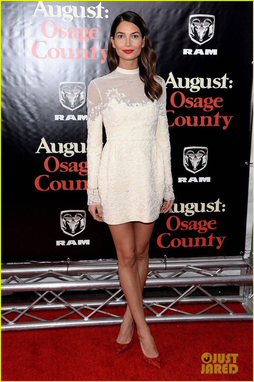 lily aldridge caleb followill august osage county premiere 05