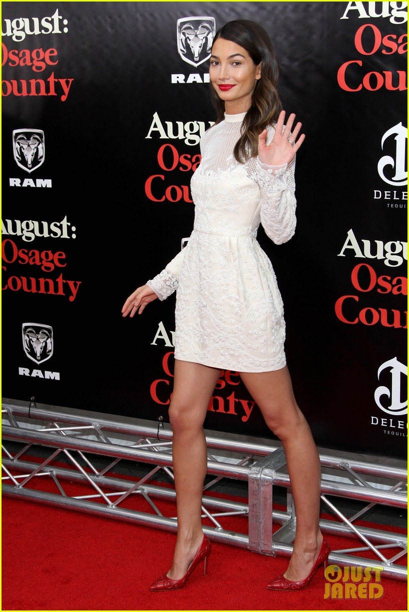 lily aldridge caleb followill august osage county premiere 093010937