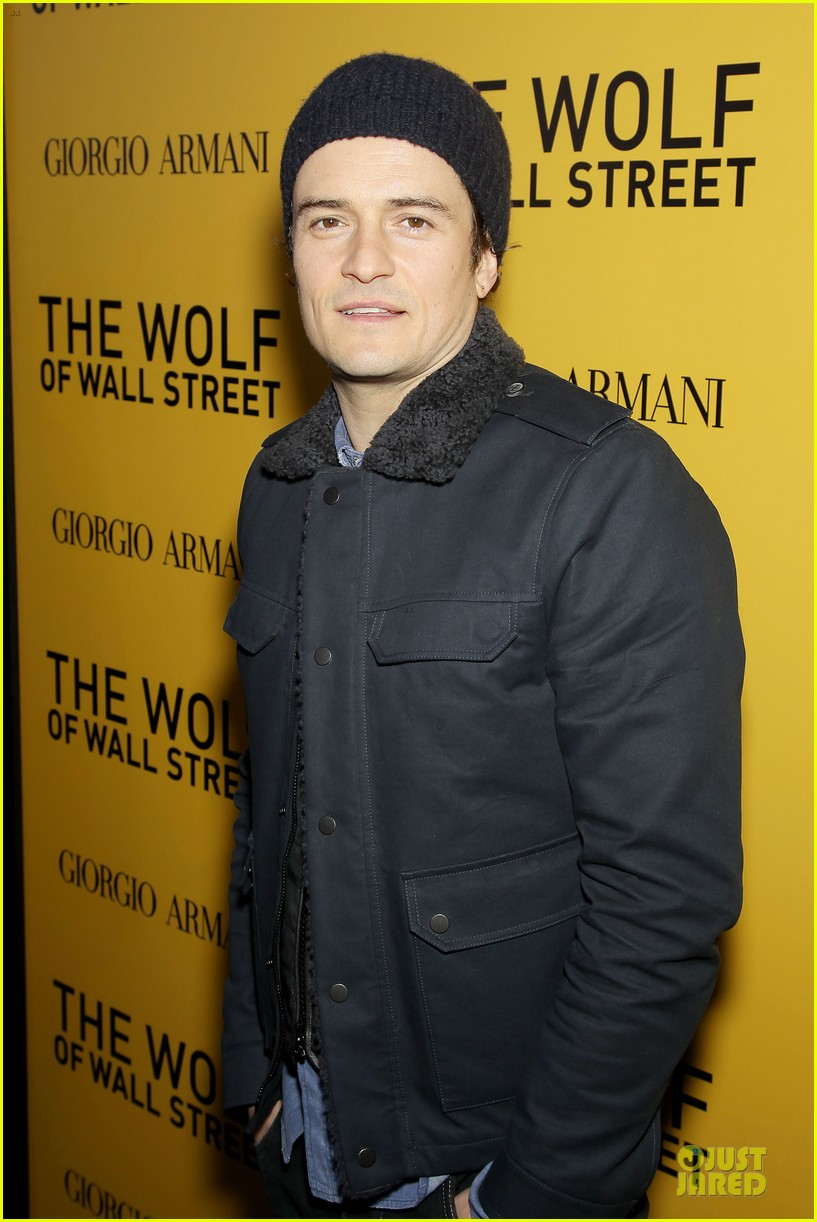 orlando bloom jamie chung wolf of wall street premiere 02