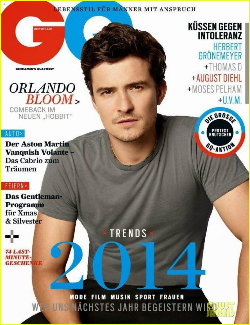 Orlando Bloom Covers 'gq