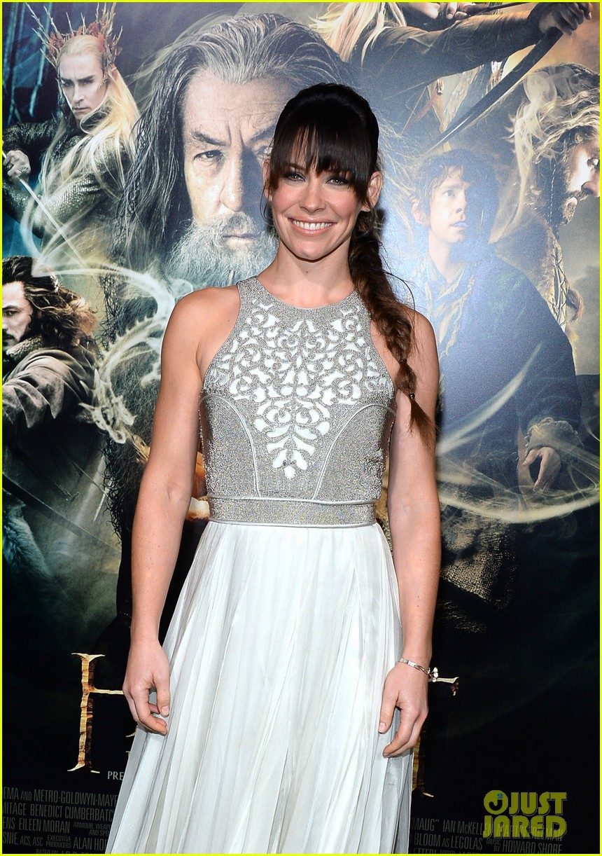 orlando bloom evangeline lilly hobbit hollywood premiere 12