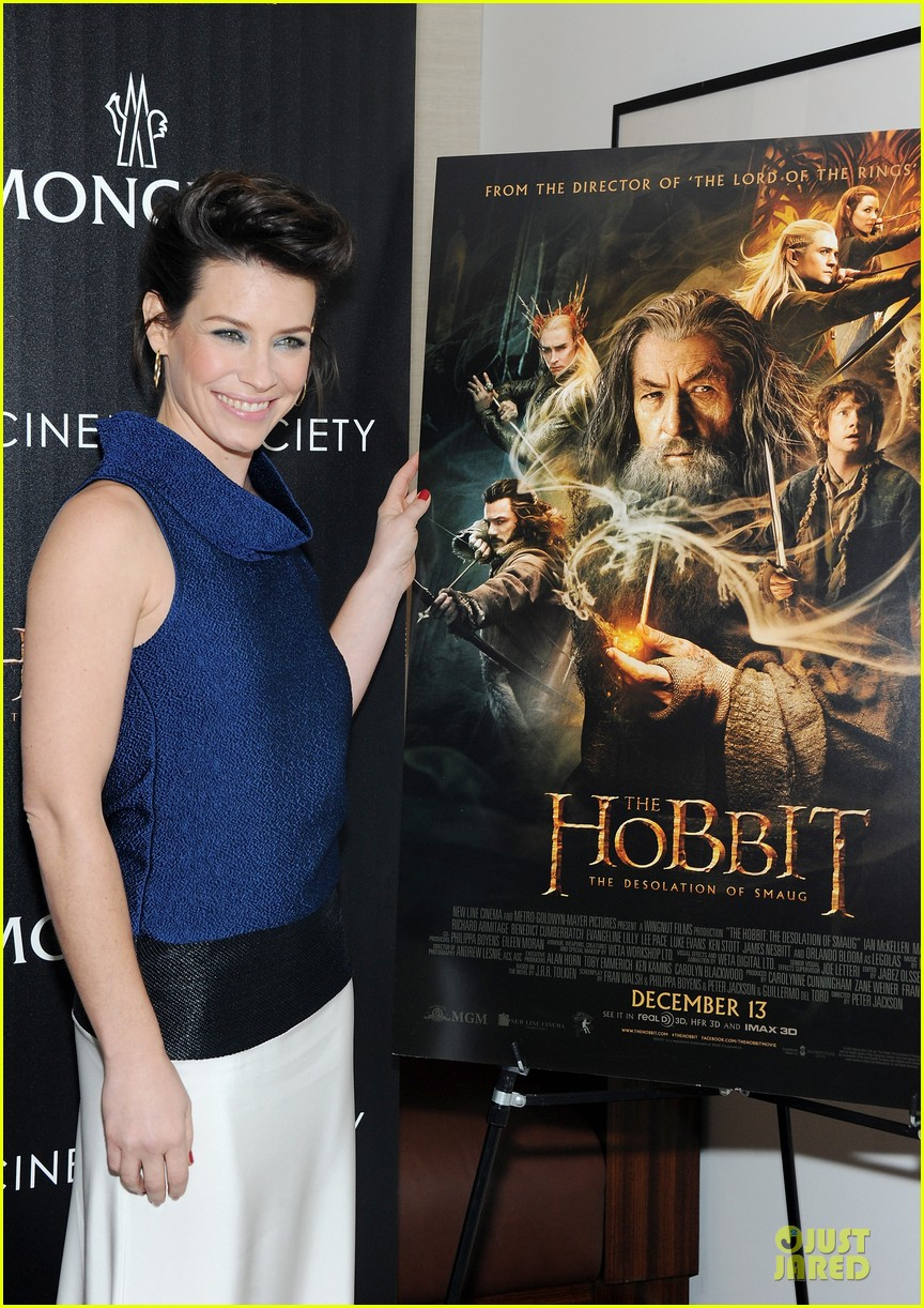 orlando bloom evangeline lilly hobbit nyc screening 113010236