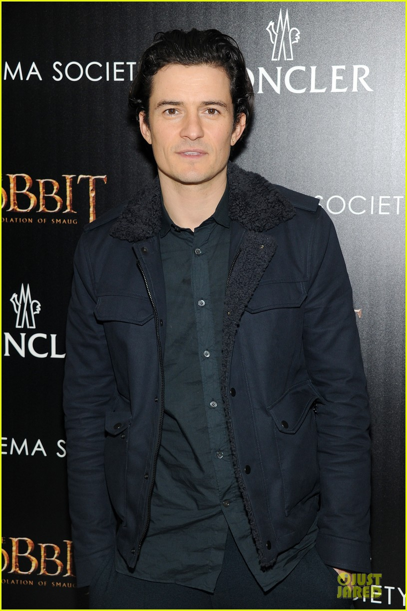 orlando bloom evangeline lilly hobbit nyc screening 133010238