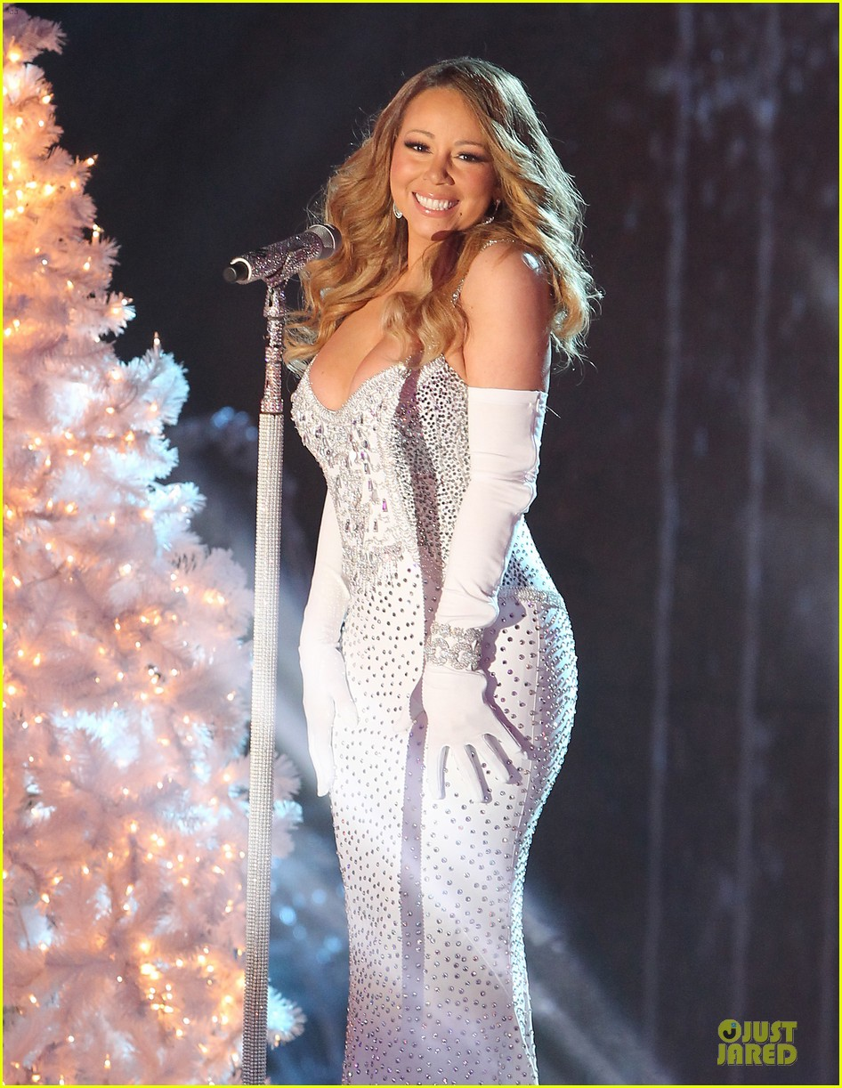 mariah carey rockfeller center christmas tree lighting 2013 performer 12