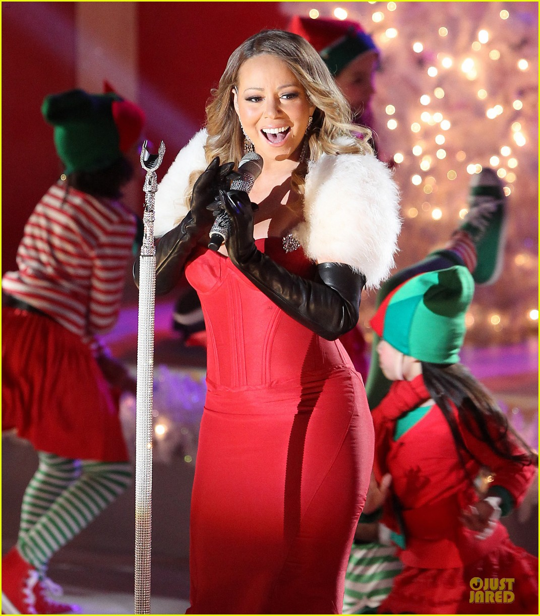 mariah carey rockfeller center christmas tree lighting 2013 performer 233004646