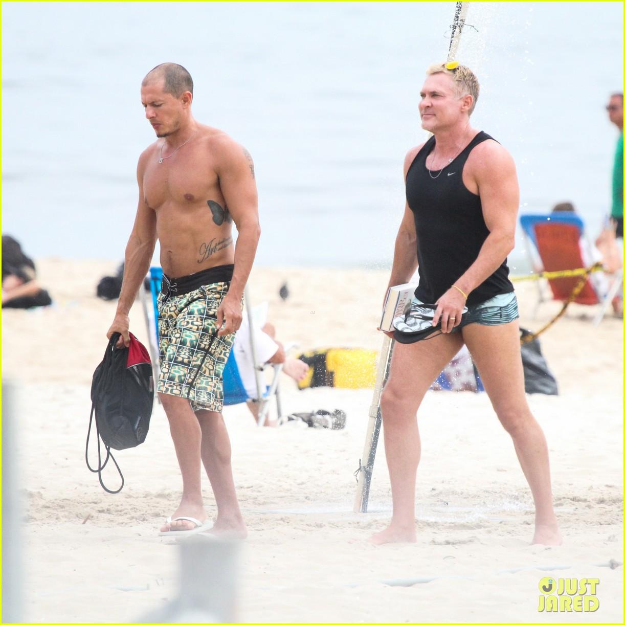 gmas sam champion shirtless buff beach time 113017882