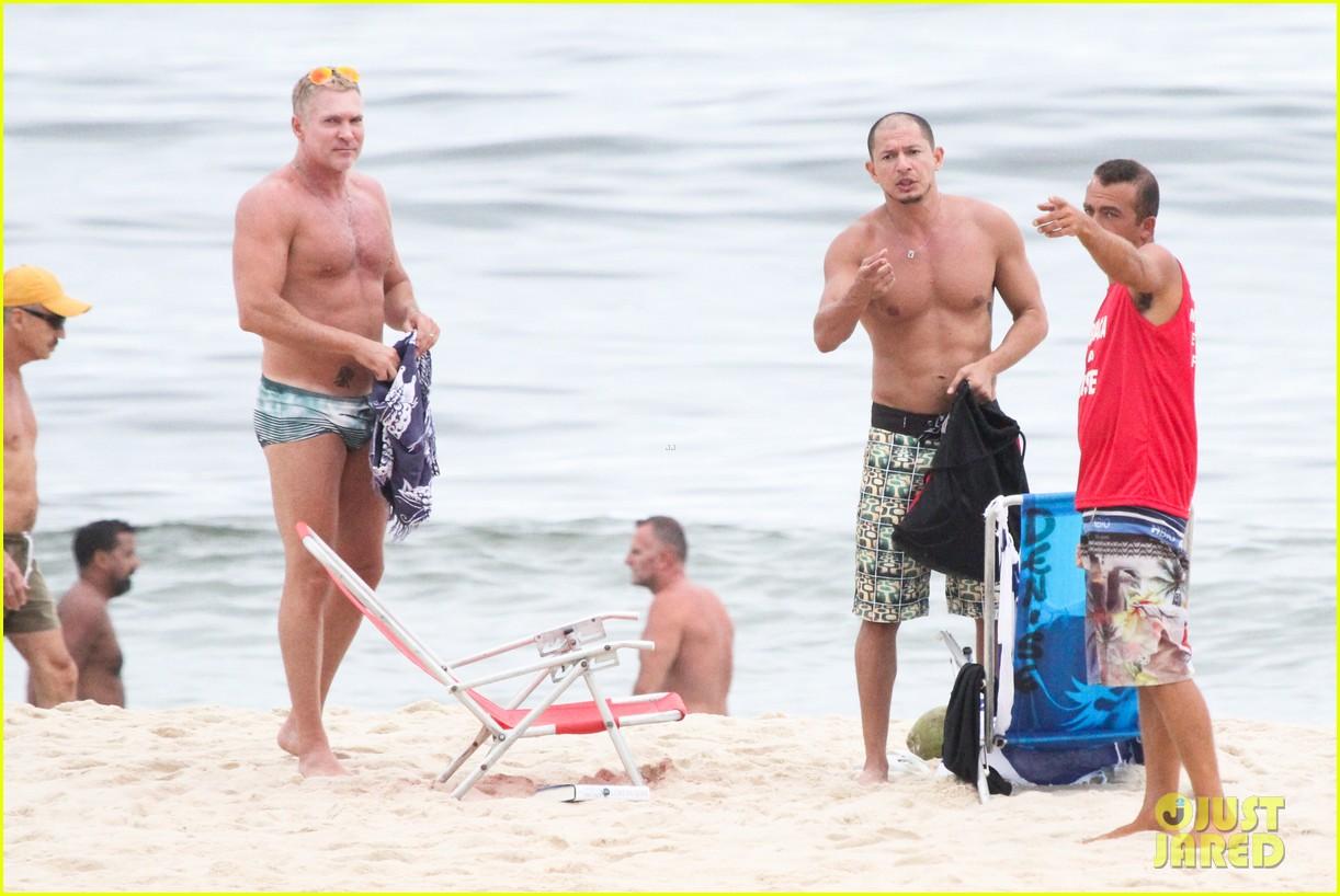 gmas sam champion shirtless buff beach time 27
