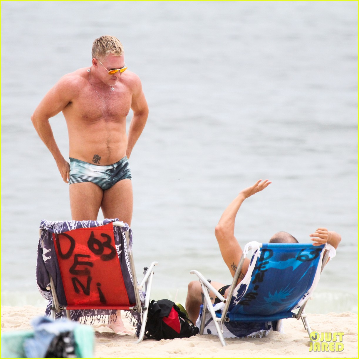gmas sam champion shirtless buff beach time 31
