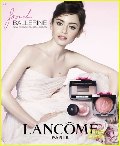 lily collins is a beautiful ballerina for lancome ad campaign 013015035