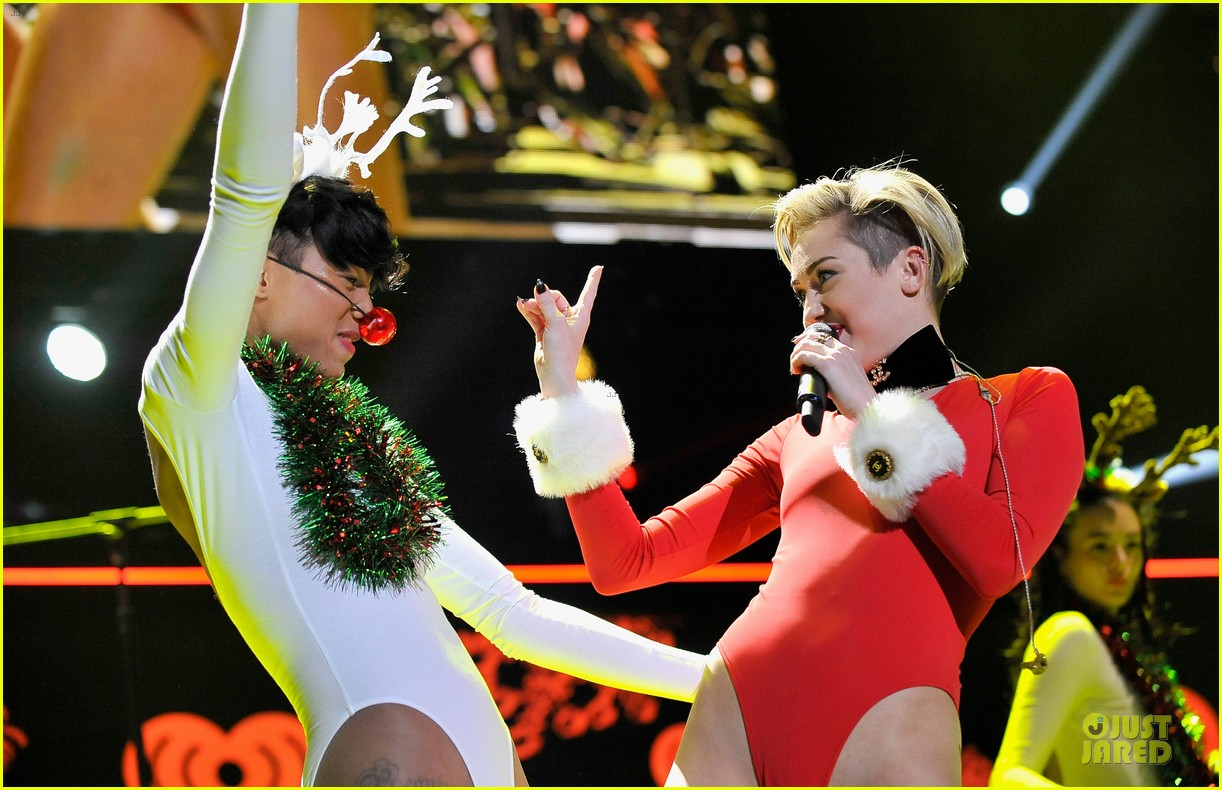 miley cyrus backstage at power 961 jingle ball 2013 15