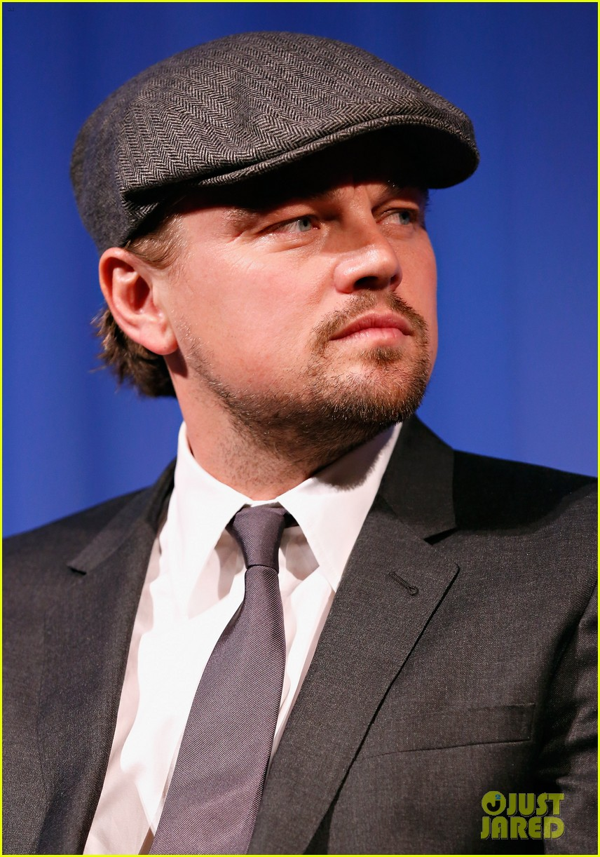 leonardo dicaprio wolf of wall street sciences academy screening 11