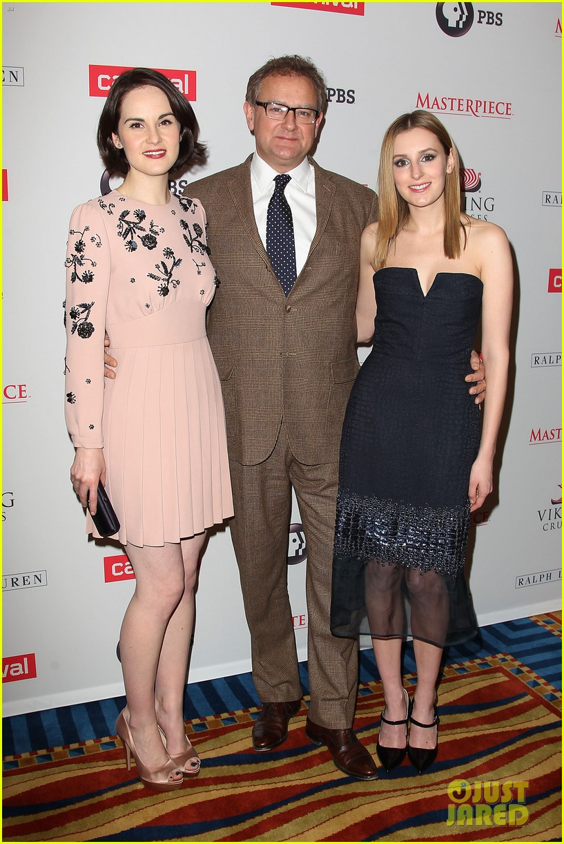 michelle dockery rob james collier downton abbey season 4 screening 19