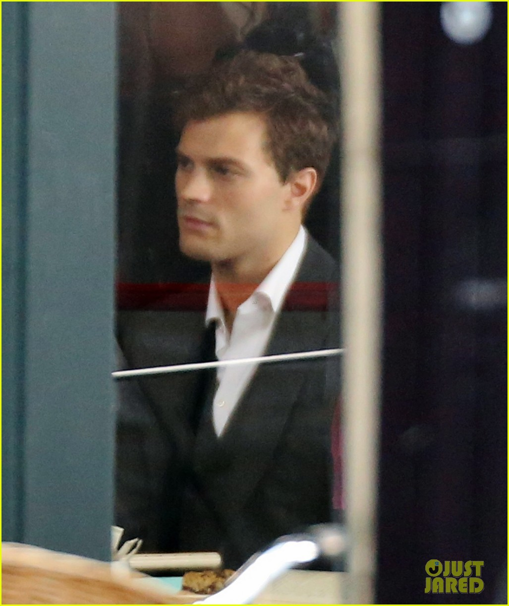 jamie dornan filming fifty shades of grey first photos on set 173002977