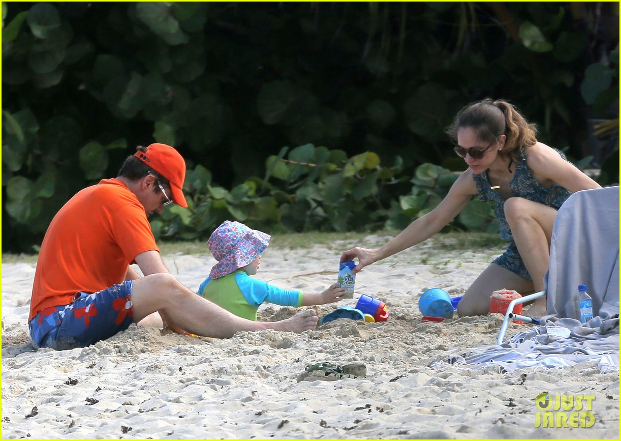 robert downey jr swims shirtless plays with exton in st barts 07