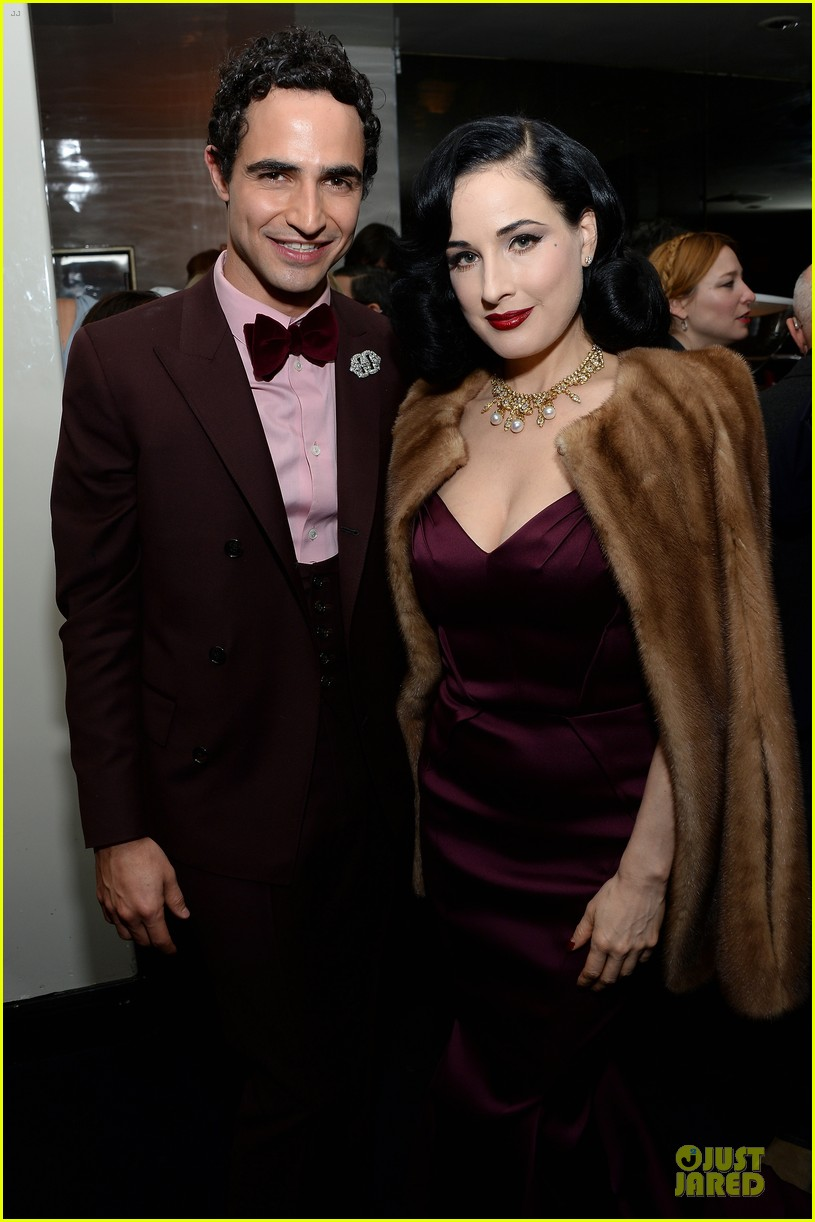 dita von teese uma thurman zac posen pre fall dinner 02