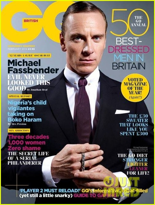 michael fassbender covers british gq february 2014 01