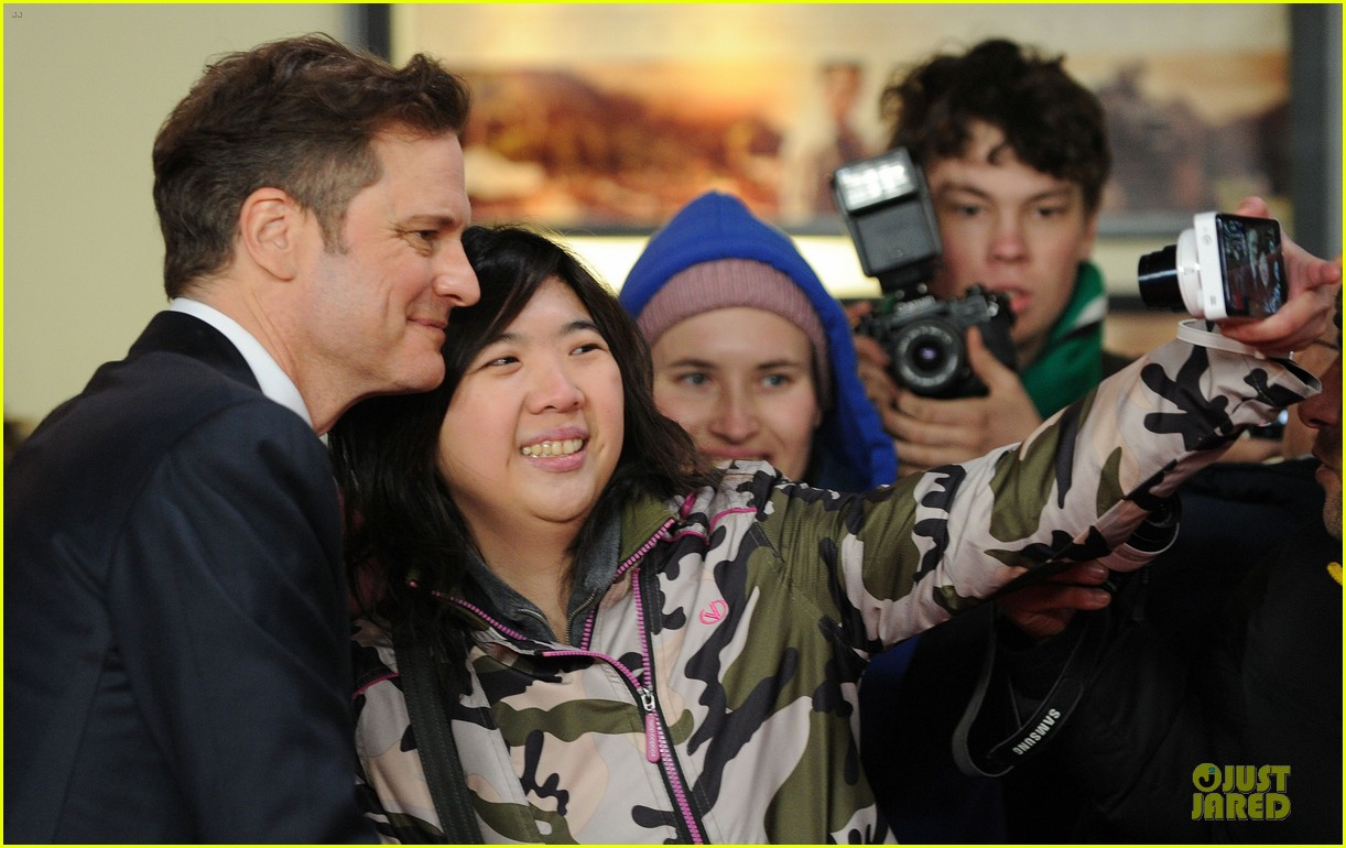 colin firth jeremy irvine railway man london premiere 13