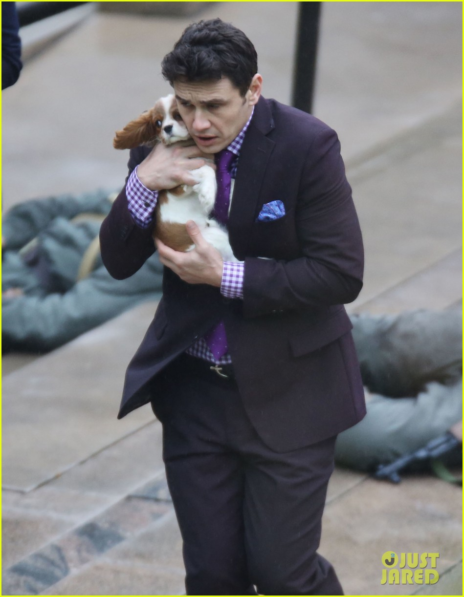 james franco cradles puppy with seth rogen for interview 04