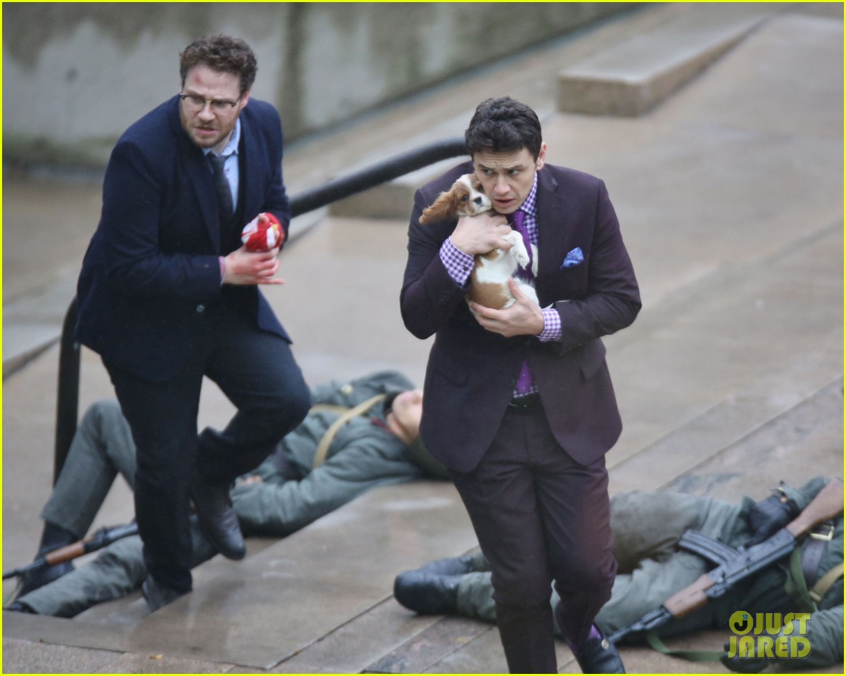 james franco cradles puppy with seth rogen for interview 213002932