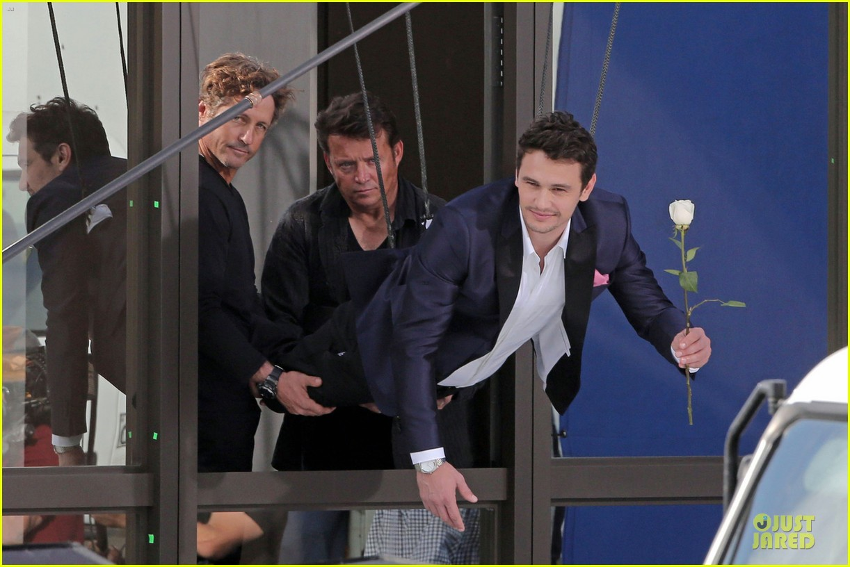 james franco holds white rose for ford commercial 03