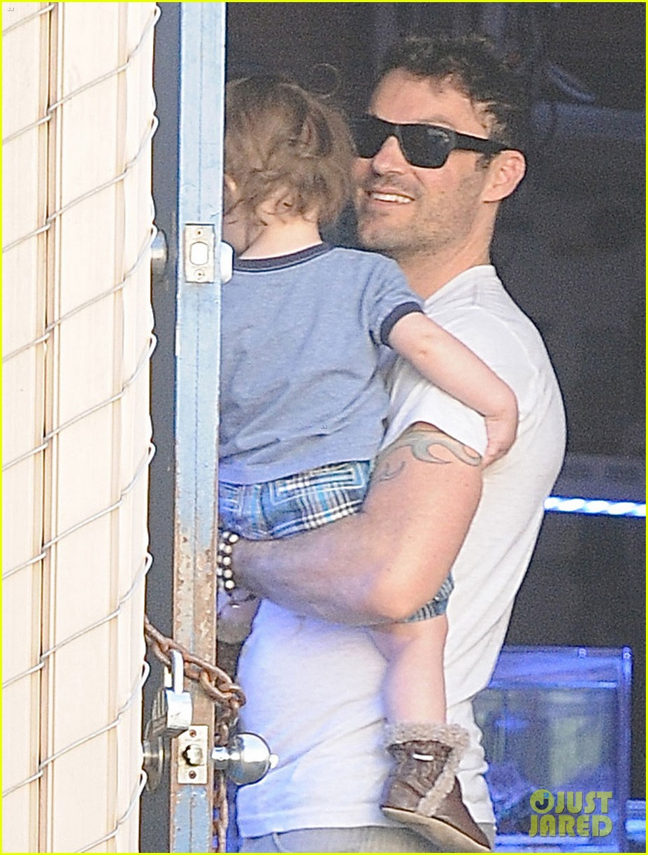 brian austin green steps out with 15 month old son noah 02
