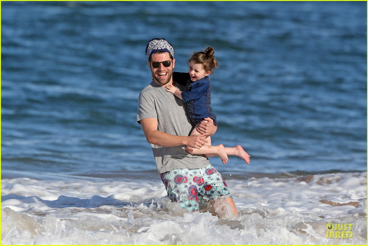 max greenfield shirtless vacation with bikini clad wife tess 18